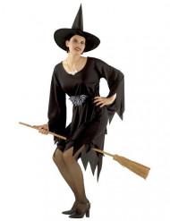 Déguisement Sorcière Magicienne classique Halloween pour femme noir