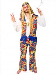 Déguisement hippie à fleurs adulte
