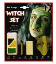 Kit de maquillage sorcière avec faux nez