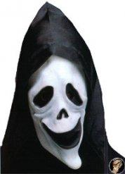 Masque de fantôme fluorescent avec cagoule