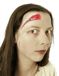 Fausse blessure fermeture à glissière