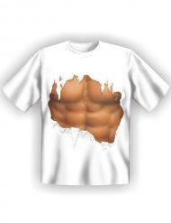 T-shirt imprimé abdos homme