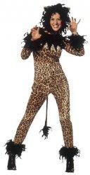 Déguisement léopard sexy marron noir femme