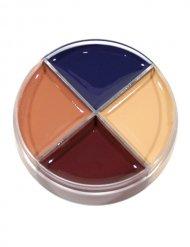 Palette de maquillage pour blessures 4 couleurs Halloween