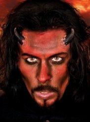 Fausses cornes de démon noires adulte Halloween