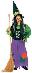 Déguisement sorcière multicolore Halloween fille
