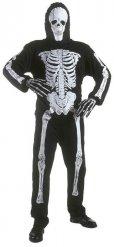 Déguisement squelette enfant noir Halloween
