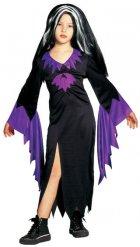 Déguisement sorcière noire et violette fille