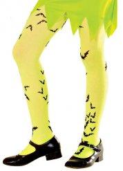 Collants jaune néon fille