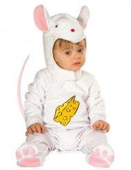 Déguisement bébé souris blanc-rose