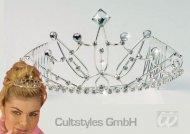 Diadème princesse argenté femme