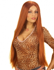 Perruque extra longue cuivrée femme