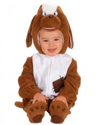 Déguisement bébé chien deluxe marron blanc