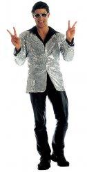 Veste disco à paillettes