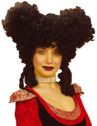 Perruque renaissance noire femme