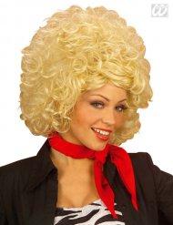 Perruque femme blonde années 60