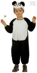 Panda Kids Costume black-white