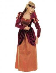 Déguisement reine médiévale élégante femme