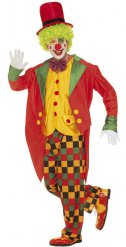 Déguisement clown clinquant multicolore homme