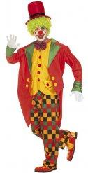 Déguisement clown clinquant multicolore homme