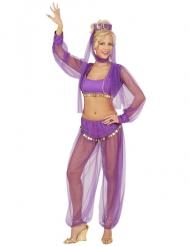 Déguisement danseuse du ventre violet femme