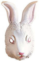Masque lapin blanc adulte