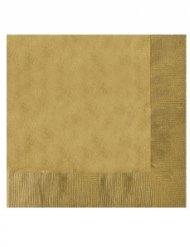20 serviettes papier or 12,5x12,5 cm
