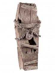 Cercueil en bois avec chaines 39x150cm