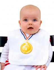 Bavette bébé médaille