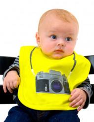 Bavette bébé appareil photo jaune