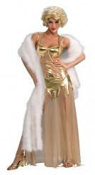 Déguisement diva de film doré femme