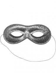 Masque vénitien argenté à paillettes adulte