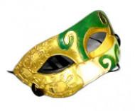 Domino Mask Eyemask Costume Accessory green-gold-black