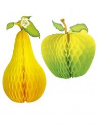 Décoration pomme et poire 21 cm