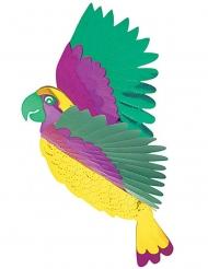 Décoration Perroquet Pendule Décoration de fête multicolore 36 x 28 cm