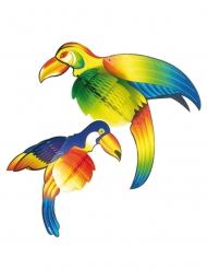 Pack décorations toucans 2pc 27 cm