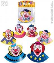 6 Chapeaux de fête clown
