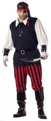 Déguisement pirate noir rouge blanc homme