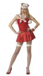 Déguisement marin rouge femme