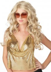 Perruque blonde glamour femme