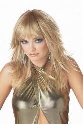 Perruque blonde longue popstar femme