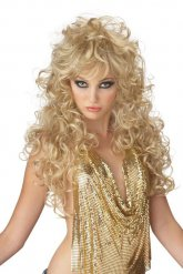 Longue perruque femme blonde 80