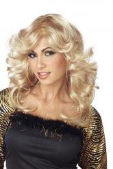 Perruque disco blonde femme