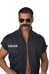 Grosse Moustache marron foncé pour homme