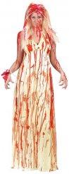 Déguisement mariée taches de sang femme Halloween