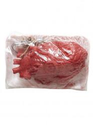 Coeur emballé 13 x 10 x 7 cm