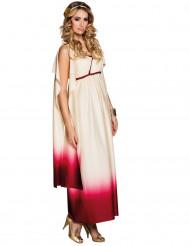 Déguisement déesse Romaine rouge et blanc femme