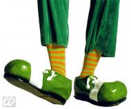 Paire de chaussettes rayées de clown vert orange