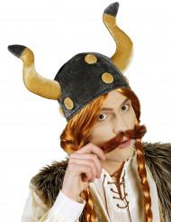 Casque chef viking velours adulte
