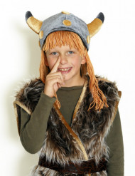 Casque viking en velours enfant